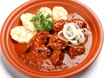 Kozel dark beer beef goulash