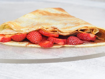 Clătită cu Nutella și căpșune
