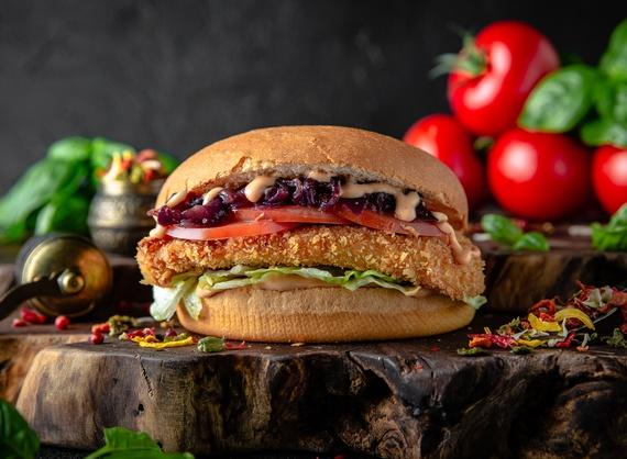 Crispy chiken burger