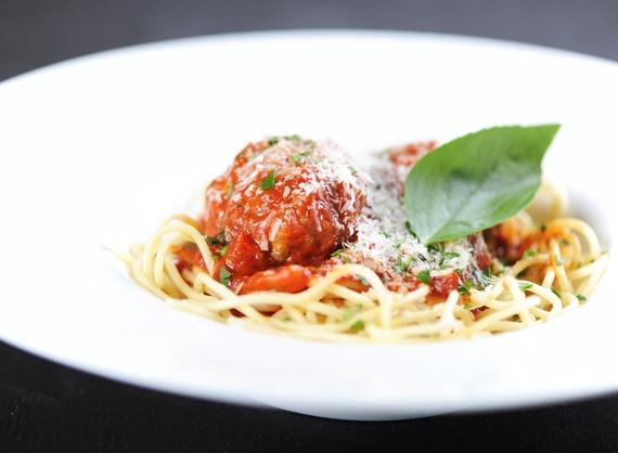 Spaghetti with meatballs (Kids menu)
