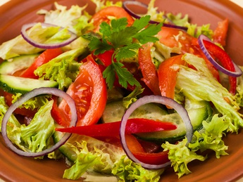 Салат из свежих овощей (постное)