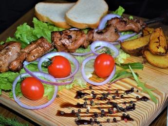 Shish kebab veal