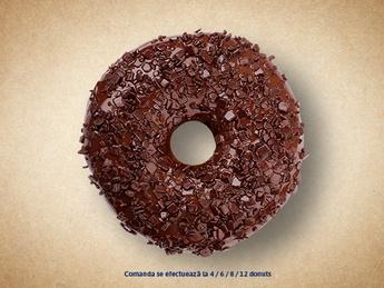 Пончик с шоколадом (черный декор)