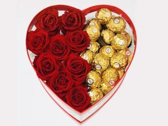 Цветочная композиция красных роз