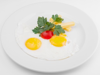Fried egg with cheese