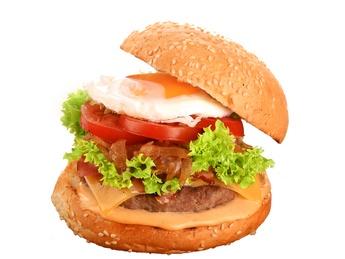 Burger Egg & Bacon