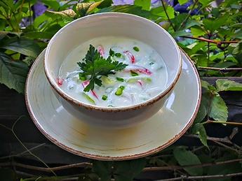 Суп холодный на мацони