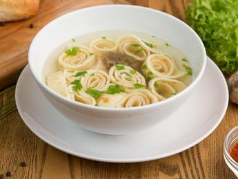 Czech soup Panadel