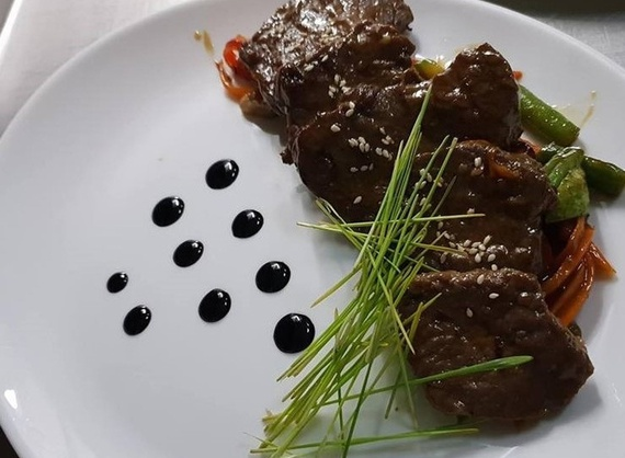 Veal in oyster sauce
