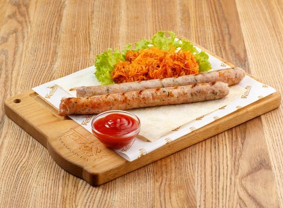 Grilled chicken sausages.