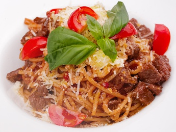 Bolognese with sauce