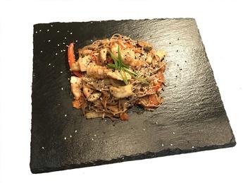 Seafood soba