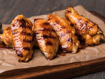 Glazed wings