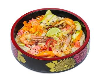 Sos Tom-Yam cu crevete și tăiței de orez