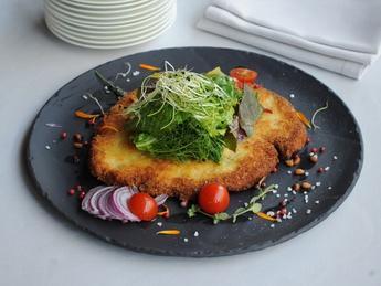 Turkey Schnitzel with mix salad