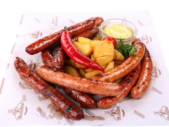 Assorted beer sausages