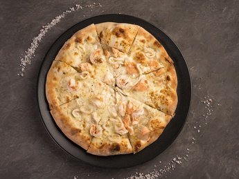 Pizza with sea fruits