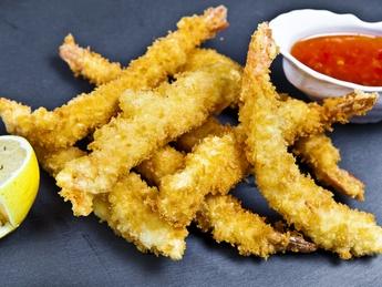Crevete în tempura