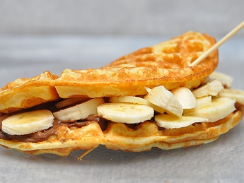 Gofre cu Nutella și banane