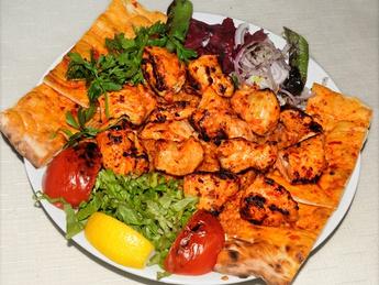 Tavuk şiş / Shish kebab from chicken