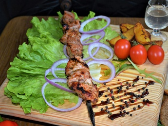 Shish kebab pork