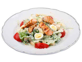 Caeser Salad with salmon