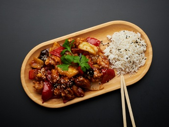 Chinese style pork with pineapple