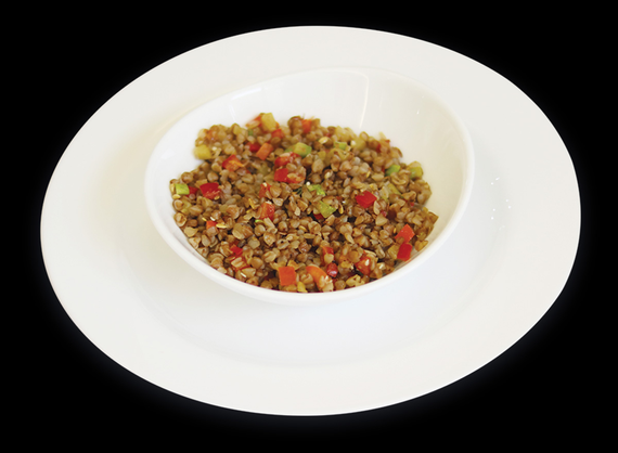 Buckwheat with red sauce