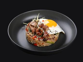 Japanese rice with pork