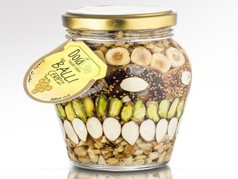 Mix of nuts and figs in honey 360 gr.