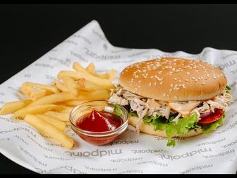 Pulled сhiken burger