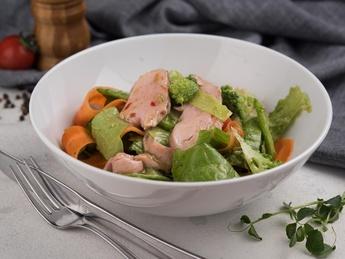 Pork mussel salad