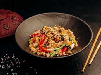 Rice Thai with chicken