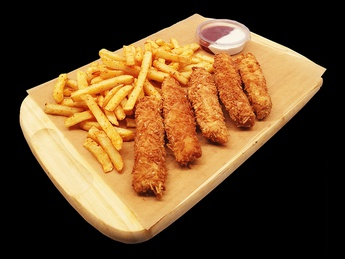 Naggees with French fries