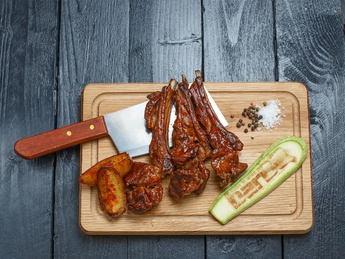 BBQ veal ribs
