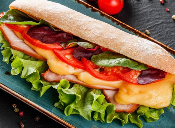 Sandwich with turkey