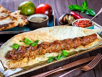 Kebab of beef