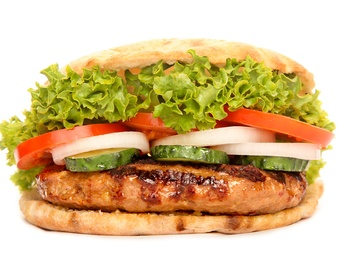 Beef burger în lipie