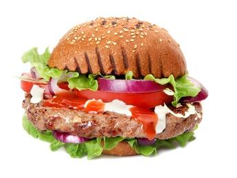 Beef burger în chiflă