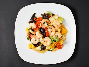 Shrimps with vegetables
