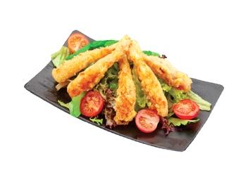 Salată cu crevete Tempura