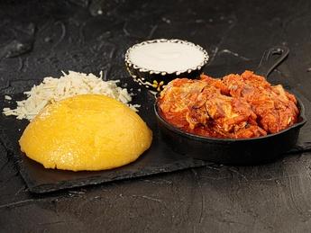 Manja with chicken