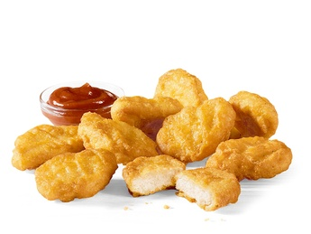 9 штук  McNuggets