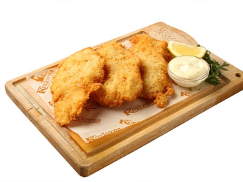 Fish fillet in Kozel beer dough.