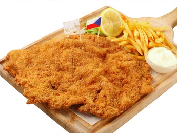 Pork schnitzel with french fries