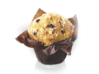 Muffin with blackberry