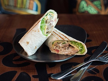 Wrap with chicken