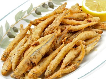 Deep-fried anchovies (smelt) (1 serving)