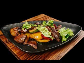 Oriental style beef