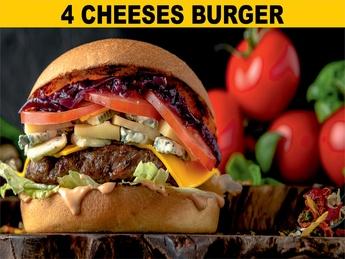4 Cheeses бургер